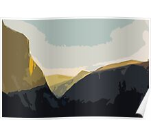 Layer Gold on El Capitan Poster
