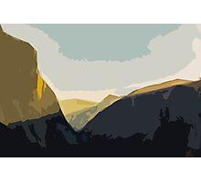 Layer Gold on El Capitan Photographic Print