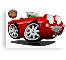 Austin Healey Bugeye caricature customized for Chris Canvas Print