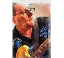 The Guitar Player In DAP Photographic Print