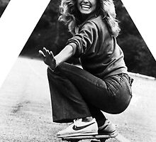 OVERFIFTEEN SKATING ANGEL ( FARRAH FAWCETT ) by OVERFIFTEEN