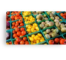 Farmers Market Choices Canvas Print