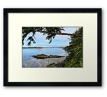 Clayoquot Sound, Pacific West Coast, Vancouver Island, BC,Canada Framed Print