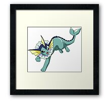 Vaporeon - Pokemon  Framed Print