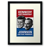 Kennedy And Johnson 1960 Election Framed Print