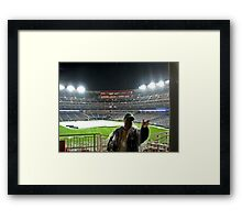 Rainout at the Ball Park Framed Print