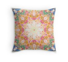 Mantra Mandala Throw Pillow