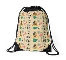 Buddhist Symbols Drawstring Bag