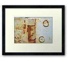 Old Hinge Framed Print