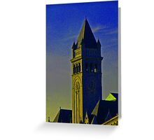 The Old Post Office tower Greeting Card