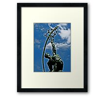"Statue of ""The Rocket Thrower"" Framed Print"