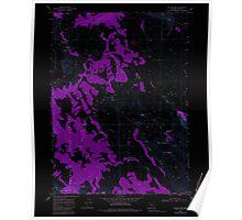 USGS Topo Map Oregon Collins Rim 279405 1968 24000 Inverted Poster