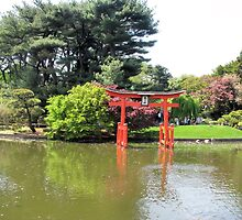 Japanese arch at Brooklyn Botanical gardens by kaine23