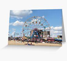 Wonder Wheel at Coney Island NYC Greeting Card