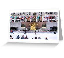 Ice skating rink at Rockefeller Center Greeting Card