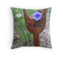 Lone Cornflower Throw Pillow