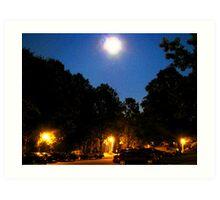 A full moon over Washington, DC suburbs Art Print