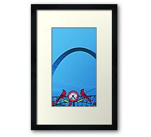The Arch and the Cardinals Framed Print