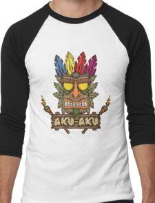 Aku-Aku (Crash Bandicoot) Men's Baseball ¾ T-Shirt