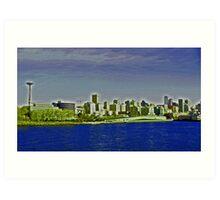 Seattle - a distant view Art Print