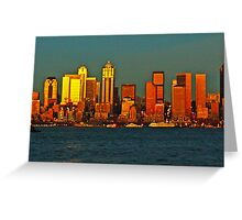Seattle at sunset Greeting Card