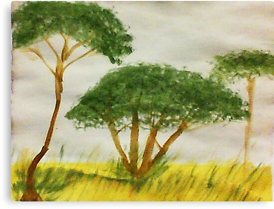 Savannah Series #2, watercolor by Anna  Lewis, blind artist