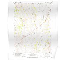 USGS Topo Map Oregon Stinkingwater Pass 281654 1978 24000 Poster