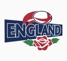 England Rugby Ball English Rose Kids Tee