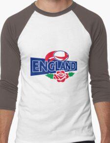 England Rugby Ball English Rose Men's Baseball ¾ T-Shirt