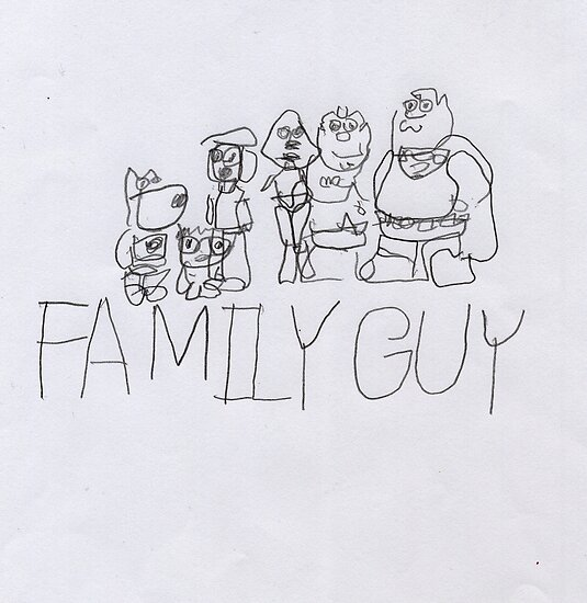 Family Guy Pencil Sketch by Vincent Gitto