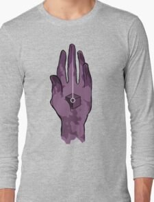 worlds hand, cartoon style!! (i guess) Long Sleeve T-Shirt