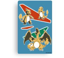 Charizard Line Canvas Print