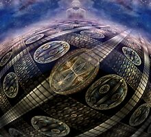 All Worlds Are But One by Craig Hitchens - Spiritual Digital Art
