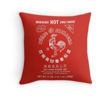Sriracha Hot Sauce Throw Pillow