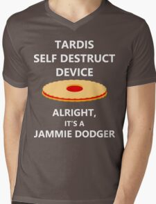 TARDIS self destruct? Mens V-Neck T-Shirt