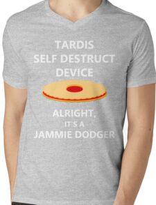 TARDIS self destruct? Mens V-Neck T-Shirt