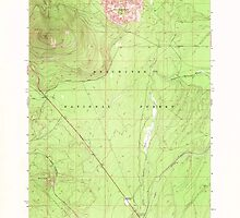 USGS Topo Map Oregon Odell Butte 280960 1967 24000 by wetdryvac