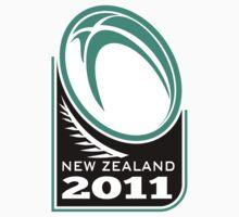 Rugby Ball New Zealand 2011 Kids Tee