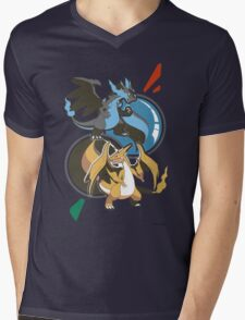 Mega Charizard x y Mens V-Neck T-Shirt