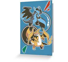 Mega Charizard x y Greeting Card