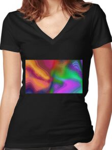 Magma iPhone / Samsung Galaxy Case Women's Fitted V-Neck T-Shirt