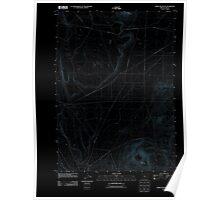USGS Topo Map Oregon Horse Mountain 20110829 TM Inverted Poster
