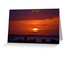 Angels Head Sunset Greeting Card