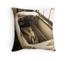 Macabre Dolly Throw Pillow