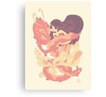 The Fox ghost and the girl Canvas Print
