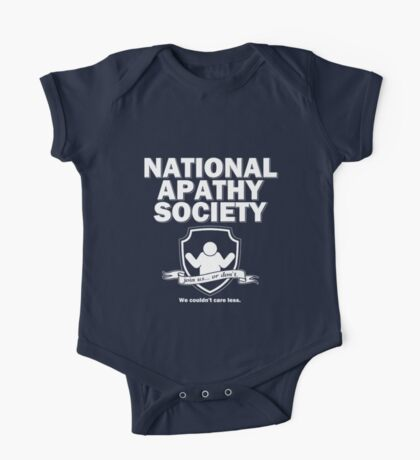 National Apathy Society One Piece - Short Sleeve