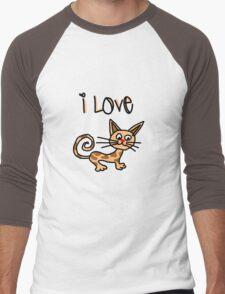 I LOVE CAT Men's Baseball ¾ T-Shirt