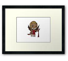 Devil kawaii Framed Print