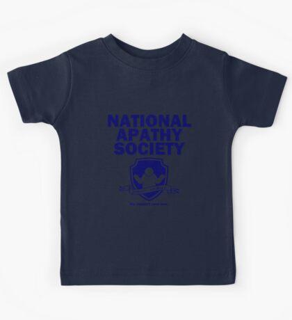 National Apathy Society Blue Kids Tee