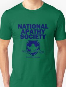 National Apathy Society Blue T-Shirt